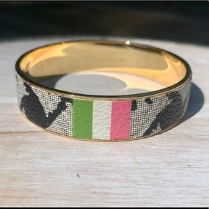 Juicy Couture bangle bracelet black and white gold